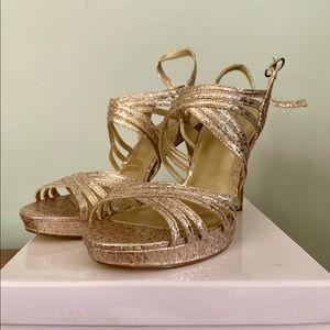 Gold Size 9 Women's Dress Shoe